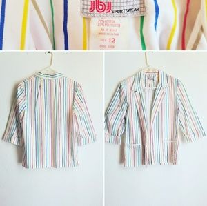 Vintage Rainbow Striped blazer
